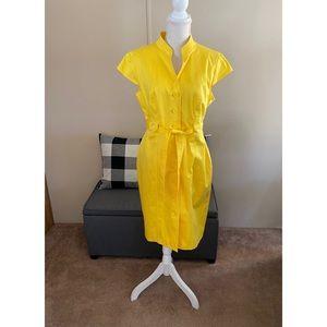 Calvin Klein Yellow Belted Dress Size 14